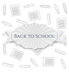 Back to School realistic paper festive Banner vector