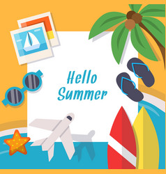 background pictures of summer theme vector image
