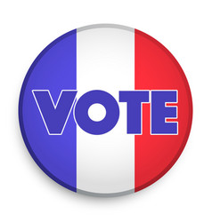badge of election 2017 in france vector image