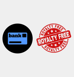 Bank card icon and scratched royalty free vector