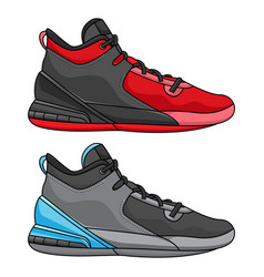 Best simple basketball shoes vector