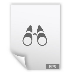 binoculars icon symbol vector image