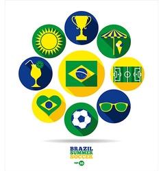 brazil vector image