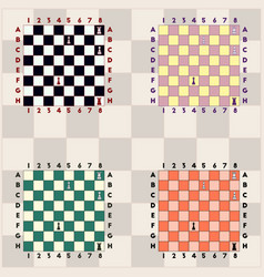Chess game set vector