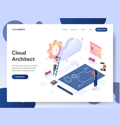 cloud architect isometric concept vector image