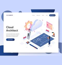 cloud architect isometric concept vector image