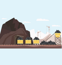 coal mine industry and transportation vector image