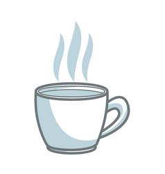 coffee cup beverage drink break office icon vector image