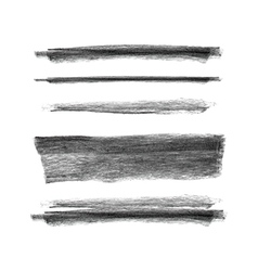 Collection of hand drawn chalk marks texture vector image
