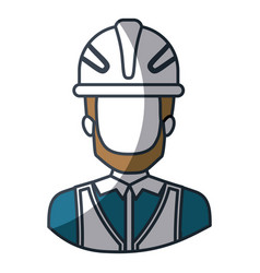 Color silhouette and thick contour of half body of vector