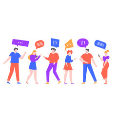 communicating people group female and male vector image