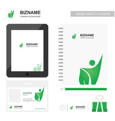 Company app design with company diary with logo vector