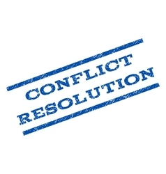 Conflict resolution watermark stamp vector