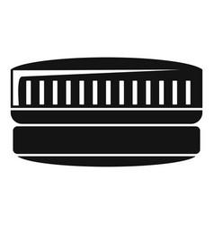 Contact len case icon simple style vector