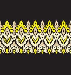 creative ethnic stripe seamless ornament vector image