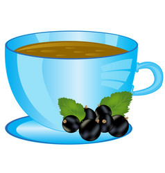 Cup of the drink with berry vector