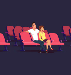 date in cinema flat isolated vector image