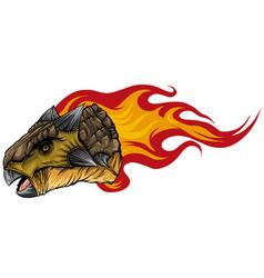 Dinosaurus ankylosaurus head art vector