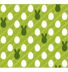Easter eggs seamless green texture rabbit hare vector image