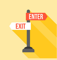 enter and exit sign post direction vector image