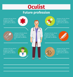 Future profession oculist infographic vector