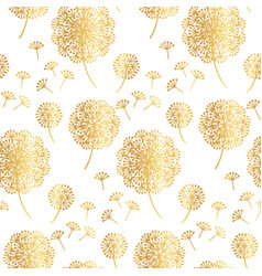 gold geometric dandelion flowers on white vector image