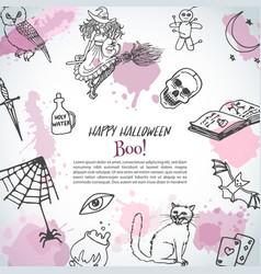 hand drawn happy horror vector image