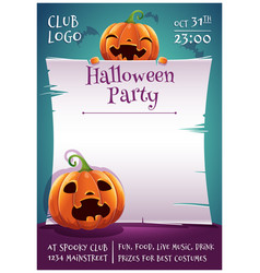 happy halloween editable poster with smiling and vector image