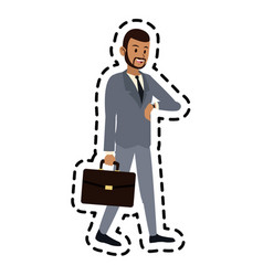 Happy man icon image vector