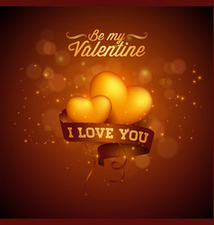 Happy valentines day and i love you greeting vector