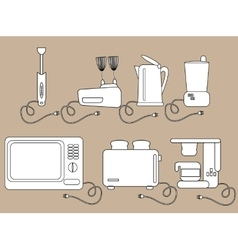 Household appliances kitchen Electrical vector