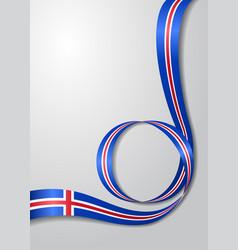Icelandic flag wavy background vector