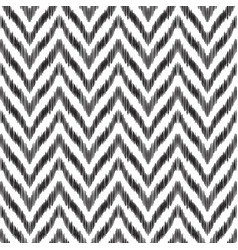 ikat zigzag seamless pattern vector image