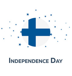 independence day of finland patriotic banner vector image