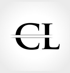 initial cl letter logo with creative modern vector image