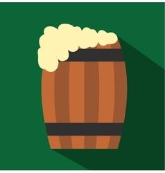 Keg of beer flat icon vector image