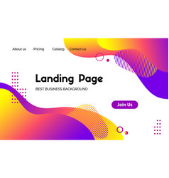 Landing page template abstract modern vector