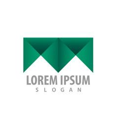 logo concept design geometric letter m symbol vector image
