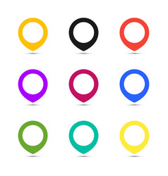 Map point set icons coloful vector