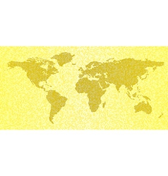 map world yellow abstract travel background vector image