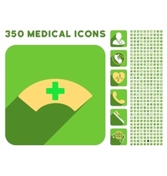 Medical Visor Icon and Medical Longshadow Icon Set vector