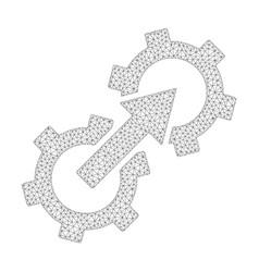 mesh gear integration icon vector image