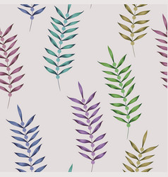 multicolor vertical branch seamless white vector image
