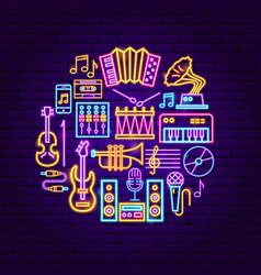 music neon concept vector image