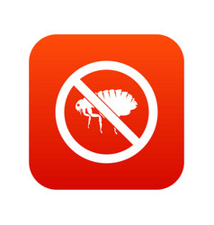 no flea sign icon digital red vector image