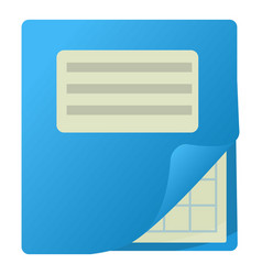 Notebook icon cartoon style vector
