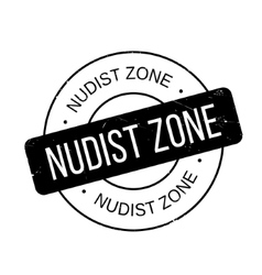 Nudist Zone rubber stamp vector
