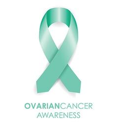 Ovarian cancer ribbon vector