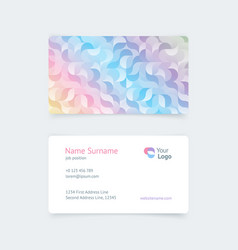 pattern vintage business card vector image