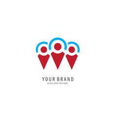 people location logo vector image